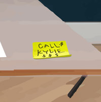 'Call Kylie' sticky note